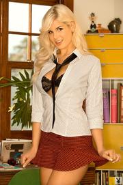 blonde college girl model