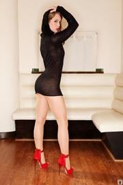 skinny model black long