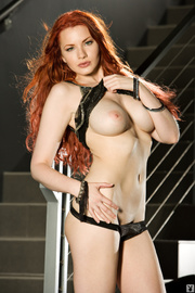 redhead with porcelain white