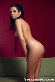 young brunette pink lingerie