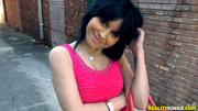 dark haired lass black