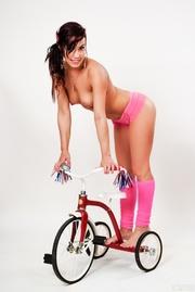 sweet brunette pink panties