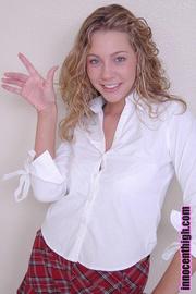 appealing blonde wearing schoolgirl