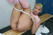 blonde school girl with