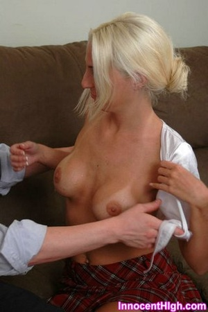 Bleach blonde in a school girl uniform,  - XXX Dessert - Picture 9