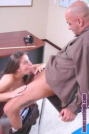 brunette babe gets undressed