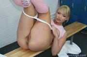 hot blonde cheerleader gets