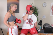 horny young blonde boxer