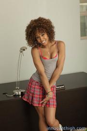 ebony beauty plaid skirt