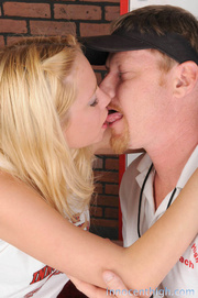 beautiful blonde engages awesome