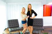 seductive blondes black and