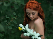 white girl with orange