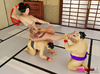 Big booty Asian forces two sumo wrestlers to be her sex slaves.