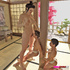 Tattooed Asian Femdom has two men bound to a pillar and uses them as her