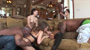 Naughty raven and her friends fucked har - XXX Dessert - Picture 14