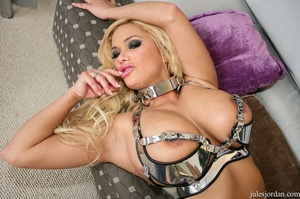 Horny blonde with big tits slurps a big  - XXX Dessert - Picture 10