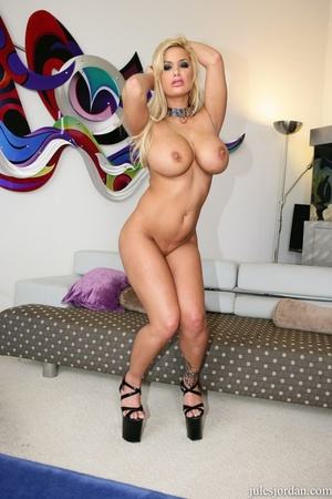 Horny blonde with big tits slurps a big  - XXX Dessert - Picture 12