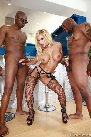 Busty blonde in black lingerie gets demo - XXX Dessert - Picture 12