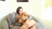 inked brunette slut gets
