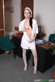 black haired tart nurse