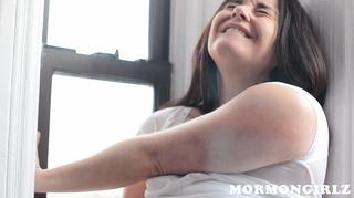 chunky mormon lady twisting
