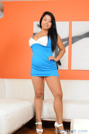 asian bitch blue dress