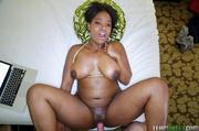 hot black babe takes
