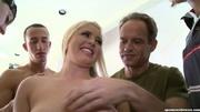 kinky blonde babe sucks