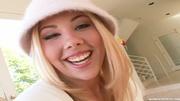 cute blonde white gets