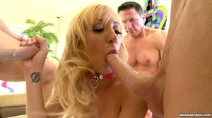 Blonde in white lace gets manhandled by  - Picture 15