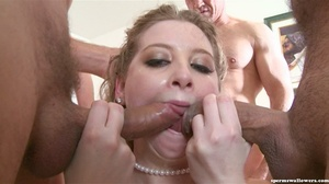 Babe in blue lace has fun drinking loads - XXX Dessert - Picture 15