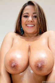 brunette with huge tits