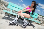 exotic petite latina roller