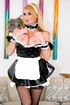 naughty blonde maid gets