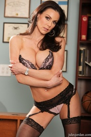 fit brunette milf black