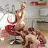 Devilish diva with a stern streak has three guys worshipping her feet