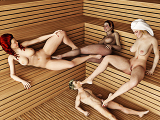 Three busty women get pleasure from controlling a - Picture 3