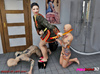 Asian Mistress wants her doting male slaves to do daunting things in the