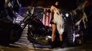 hot biker girls posing