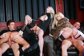 seductive busty blondes brunette