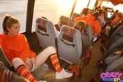 cutie orange sweatshirt flashes