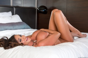 Tempting tanned brunette with huge firm  - XXX Dessert - Picture 6