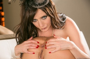Two classy brunettes in sexy corsets and - XXX Dessert - Picture 11