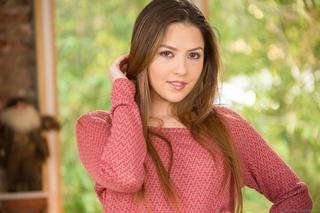 sweet brunette pretty face