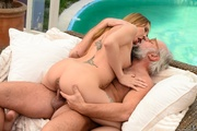 grandpa licks his blonde