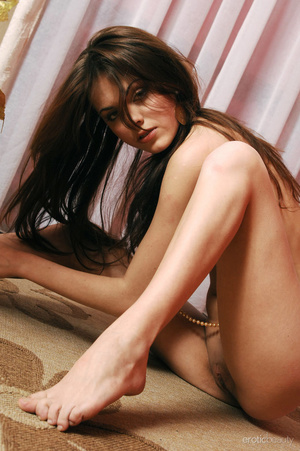 Sultry young brunette strips colorful dr - XXX Dessert - Picture 10