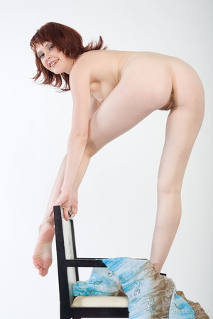 Redhead with snow white skin strips her  - XXX Dessert - Picture 5