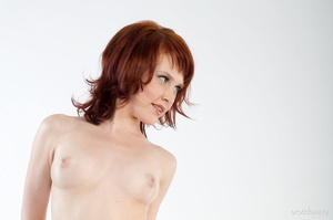 Redhead with snow white skin strips her  - XXX Dessert - Picture 6
