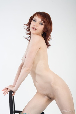Redhead with snow white skin strips her  - XXX Dessert - Picture 10