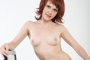 Redhead with snow white skin strips her  - XXX Dessert - Picture 11